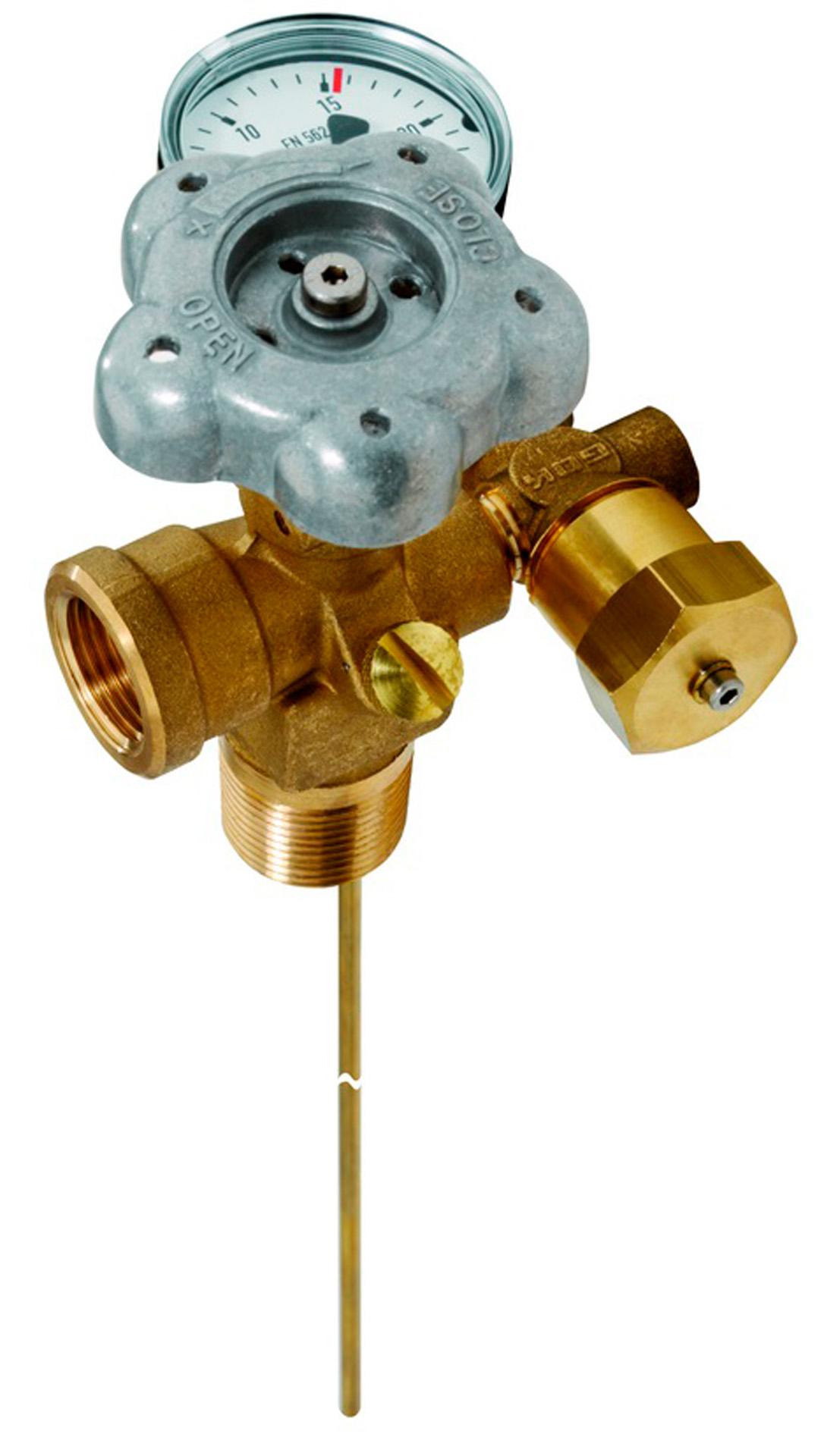 55 000 00 Вентиль паровой фазы для емкости сжиженного газа с L=1150МА. 15,6 бар Тип 55212
